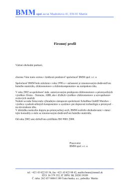 Firemný profil (PDF)
