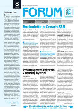 8 - Slovenský syndikát novinárov