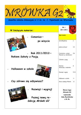 Rok 2011/2012 - Gimnazjum nr 2 we Włocławku