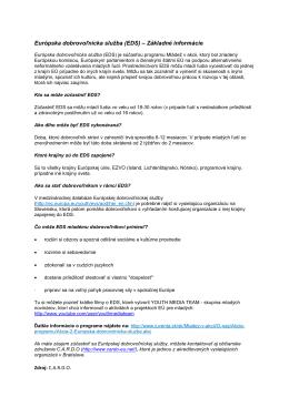 Európska dobrovoľnícka služba (EDS