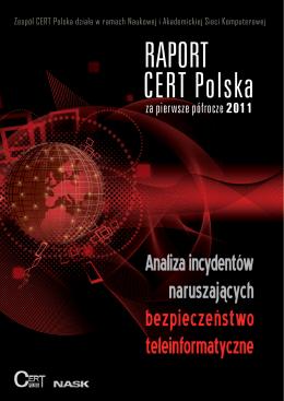 Raport CERT Polska za pierwsze półrocze 2011
