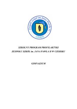 Szkolny Program Profilaktyczny - Sz. Pods.