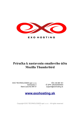 Thunderbird - EXO hosting