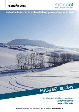 MANDAT správy Február 2015
