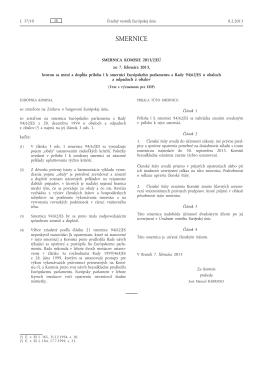 Smernica Komisie 2013/2/EÚ zo 7. februára - NATUR