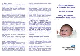 Rozszerzone badania przesiewowe noworodków
