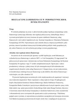 regulacyjne zamierzenia ue w perspektywie 2020 r