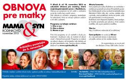 Pozvánka MAMA&SYN