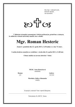 Smútočné oznámenie (PDF)
