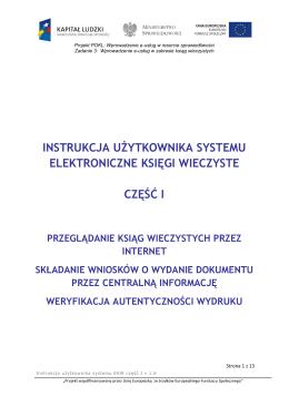 Instrukcje Użytkownika - Elektroniczne Księgi Wieczyste