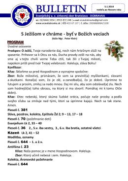 bl. 5.1.2014 - ECAV Dúbravka