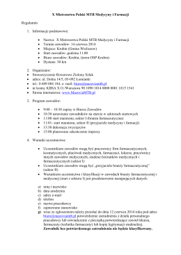 Regulamin (pdf) - Merida Mazovia MTB Marathon