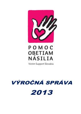 Výročná správa PON 2013