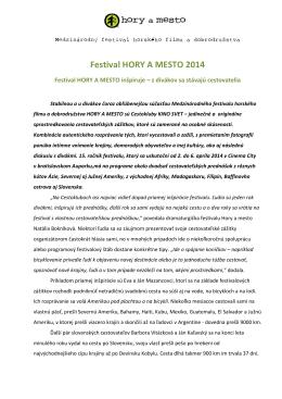 Festival HORY A MESTO 2014