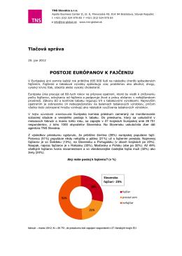 POSTOJE EURÓPANOV K FAJČENIU Tlačová správa
