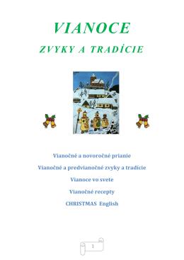 vianoce zvyky a tradície