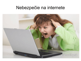 Nebezpečie na internete