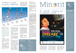 Minorit 1/2013 - Slovenská aliancia zriedkavých chorôb