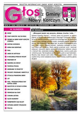 Głos z Gminy Nowy Korczyn Nr 13/09 (3) Październik 2009r.