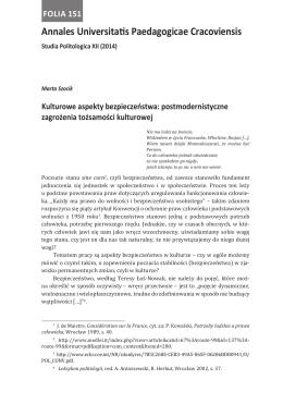 Annales Universitatis Paedagogicae Cracoviensis