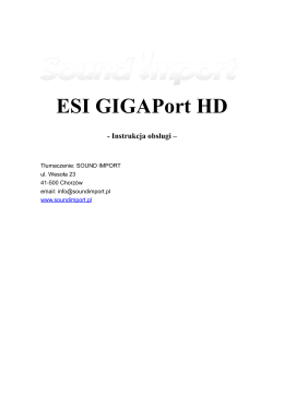 GigaPort HD - Sound Import