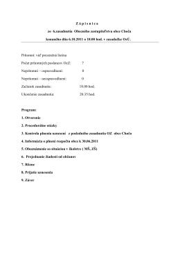 Zápisnica OZ z 06.10.2011 – dokument k nahliadnutiu
