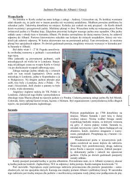 2011 rok. Jachtem Perahu do Albanii i Grecji