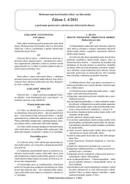 Zákon č. 4/2011 o právnom postavení a združovaní