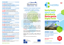 KARTA GOŚCIA, Znizky zima 2014/15