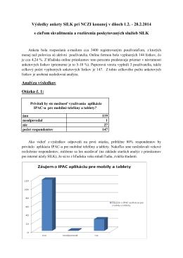 Výsledky ankety pre účely SlLK pri NCZI konaného od 1