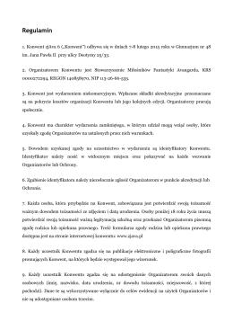 Regulamin konwentu zjAva 6