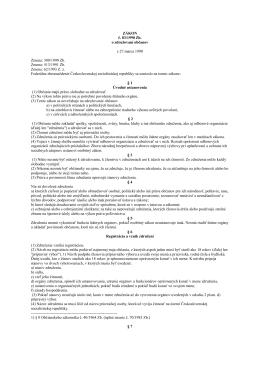 Zákon č. 83_1990 Zb. o združovaní občanov