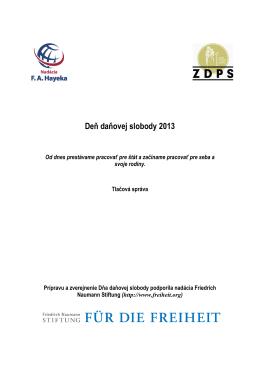 Deň daňovej slobody 2013