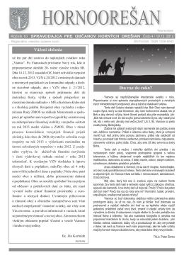 Hornoorešan - číslo 4/2012