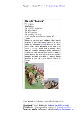 Recepty na chudnutie - Chudnutie