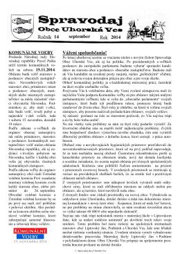 Spravodaj č. 03/2014