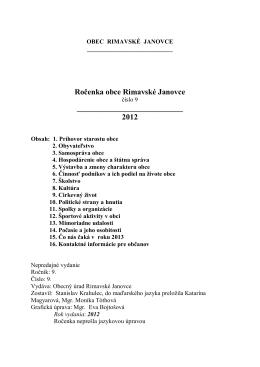 Ročenka 2012 - Rimavské Janovce