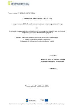 Część I - Biuro Karier - Politechnika Warszawska