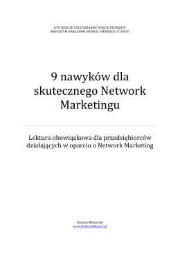 9 nawyków dla skutecznego Network Marketingu