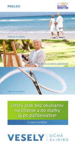 Brožúrka PRELEX - VESELÝ Očná Klinika