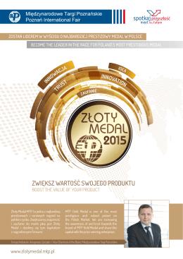 folder złotego medalu 2015 - Złoty Medal