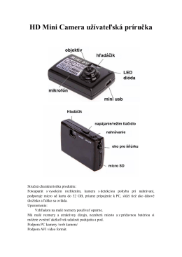HD Mini Camera užívateľská príručka