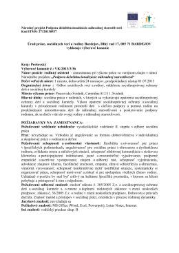Vyhlásenie VK rodinný asistent Svidník