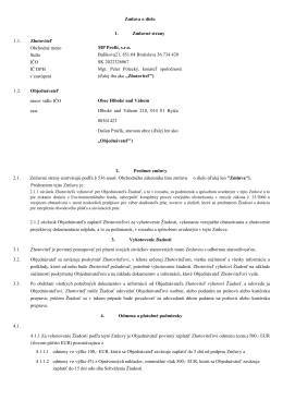 Zmluva o dielo 1.1. Zhotoviteľ Obchodné meno Sídlo IČO IČ DPH v