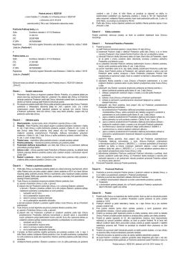 Poistná zmluva č. RZ201301, platnosť od 01.05. 2014