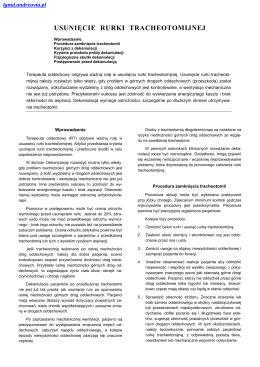 009 Usunięcie rurki tracheotomijnej - LGMD