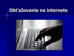 Obťažovanie na internete