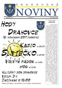 november 2011 - Obec DRAHOVCE