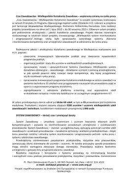 Czas Zawodowców - Wielkopolskie Kształcenie Zawodowe