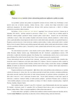 Union zdravotná poisťovňa - tlačová správa (pdf, 604.24 kB)